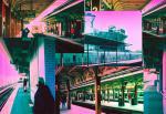 New York Trains Collage